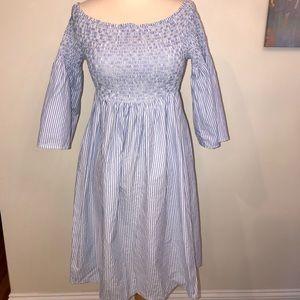 Dresses & Skirts - Striped Off Shoulders Dress